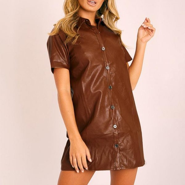 Hippie Leather Short Dress