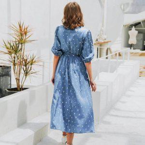 Bohemian Chic Wedding Invitation Dress