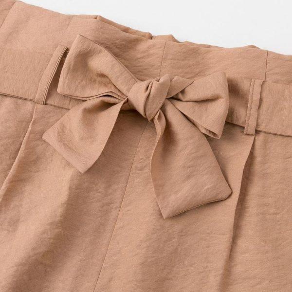 Simplee Elegant Bow Tie Wide Leg Pants Women Casual Streetwear Soft Female Long Pants Trousers High Waist Ladies Palazzo Pants