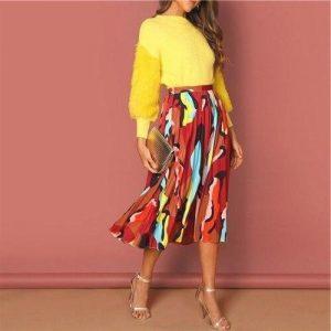 Long skirt boheme multicolor