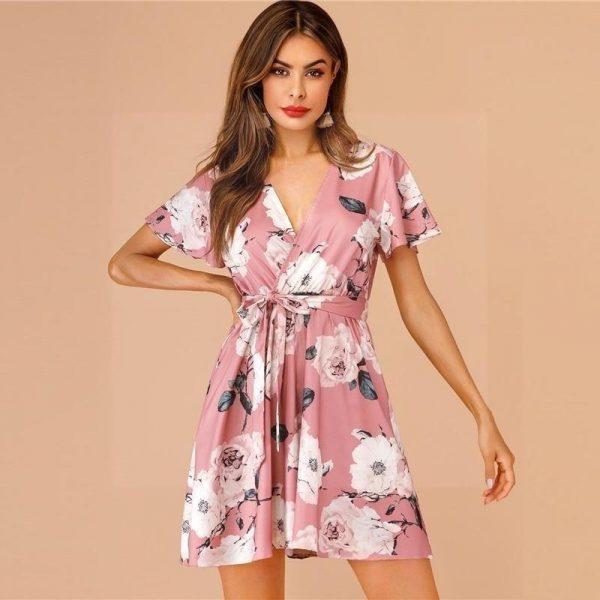 Bohemian powder pink dress