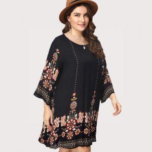 Dress boheme large size