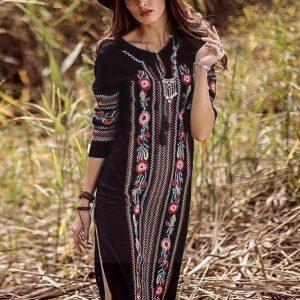 Bohemian boho maxi dress