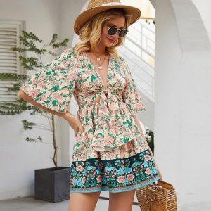 Bohemian chic dress st tropez