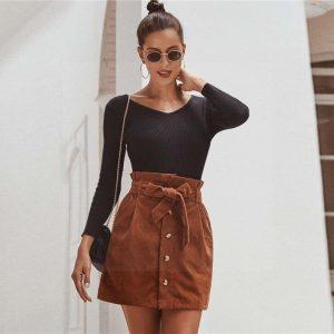 Brown bohemian skirt