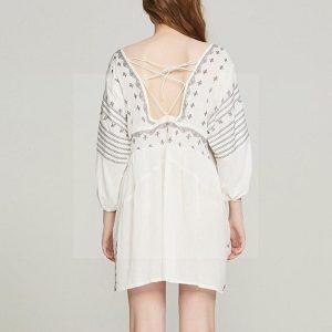 White dress bohemian spirit