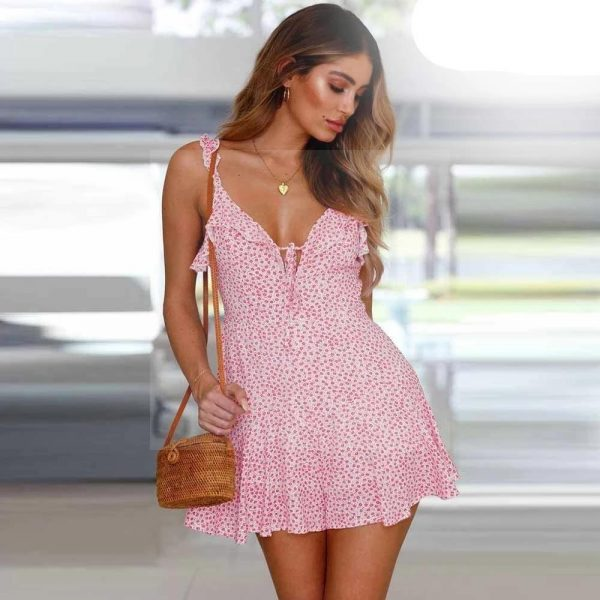 Bohemian chic coral dress