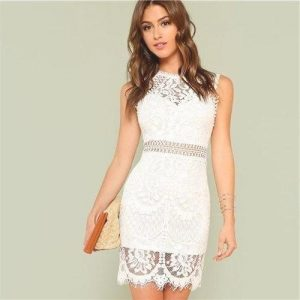 Bohemian dress with lace back