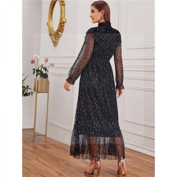 Black long bohemian dress