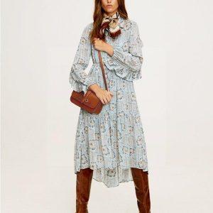 Dress bohemian chic mid-length