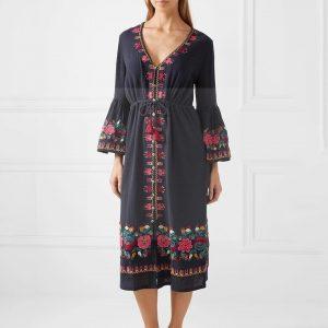 Hippie chic winter dress