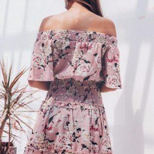 Pink hippie chic dress