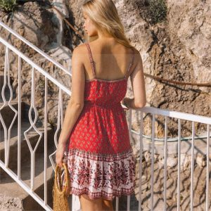 Red hippie dress