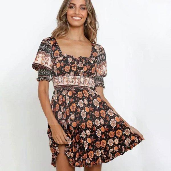 Bohemian chic guest dress